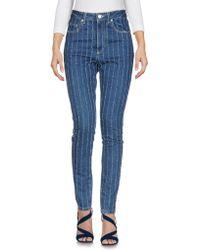 MSGM - Pantalon en jean - Lyst