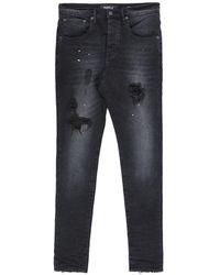 Purple Jeanshose - Schwarz
