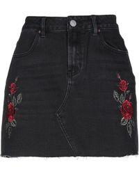 Kendall + Kylie Jupe en jean - Noir