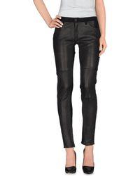 Superfine Denim Trousers - Black