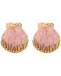 Nach Earrings - Pink