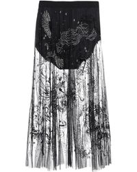 Amen Midi Skirt - Black