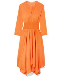 Maje Robe mi-longue - Orange