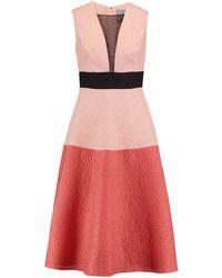 Lela Rose Knielanges Kleid - Mehrfarbig