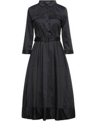 Le Mont St Michel Midi Dress - Black