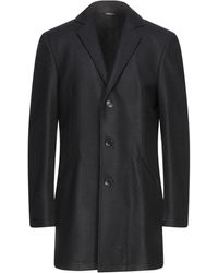Grey Daniele Alessandrini Coat - Blue