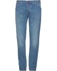 Richard James Brown Denim Trousers - Blue