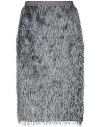 Bruno Manetti Knee Length Skirt - Gray