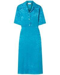 Art Dealer Midi Dress - Blue