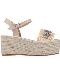 CafeNoir Sandals - Natural
