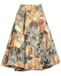 Brian Dales Long Skirt - Green