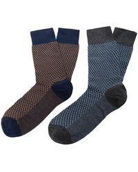 8 by YOOX Socks & Hosiery - Blue