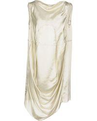 Rick Owens Short Dress - Natural