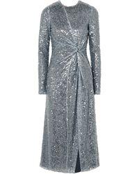 Galvan London Vestido midi - Azul