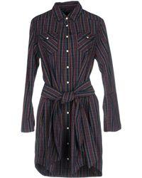 2W2M Short Dresses - Blue