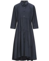 Purotatto Midi Dress - Blue