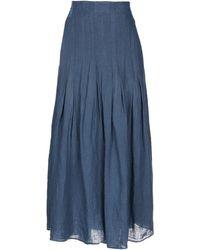European Culture Long Skirt - Blue