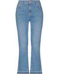 7 For All Mankind Denim Trousers - Blue