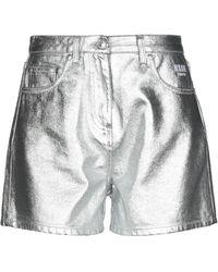 MSGM Shorts jeans - Metallizzato