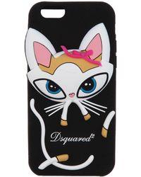 DSquared² Funda para iPhone 6 con gato - Negro