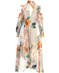 Off-White c/o Virgil Abloh Long Dress - Natural