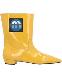 Miu Miu Ankle Boots - Yellow