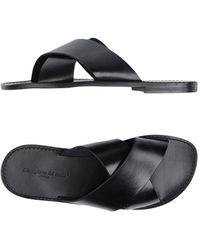 L'artigiano Del Cuoio Sandals - Black