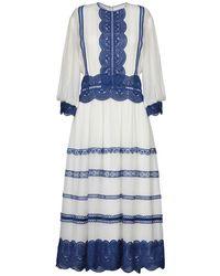 Costarellos 3/4 Length Dress - White