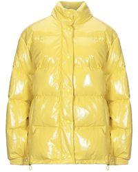 Alberta Ferretti Padded Button-up Jacket - Yellow