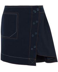 10 Crosby Derek Lam Midi Skirt - Blue
