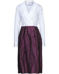 Sara Roka Midi Dress - White