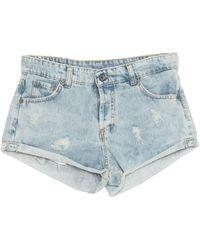 Souvenir Clubbing Denim Shorts - Blue