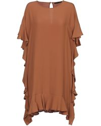 Annarita N. Short Dress - Brown