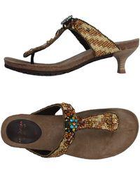 Maliparmi Toe Strap Sandal - Natural