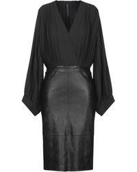 Manila Grace Knee-length Dress - Black