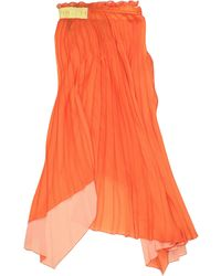 Unravel Project Midi Skirt - Orange