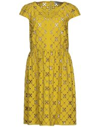Mantu Short Dress - Yellow