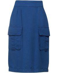 Stefano Mortari Midi Skirt - Blue