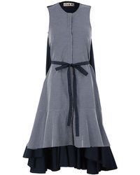 JOUR/NÉ 3/4 Length Dress - Blue