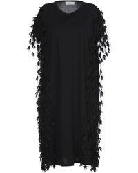 Zucca Vestido por la rodilla - Negro