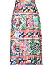 Stella Jean 3/4 Length Skirt - Orange