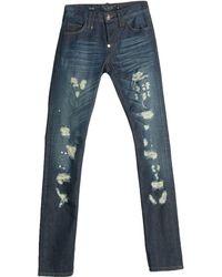 Philipp Plein Pantalon en jean - Bleu
