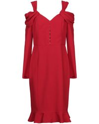 Mikael Aghal Knee-length Dress - Red