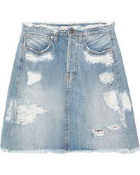 2W2M Denim Skirt - Blue