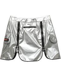 Jeremy Scott Mini Skirt - Metallic