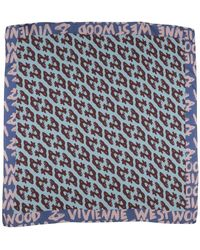 Vivienne Westwood Square Scarf - Blue