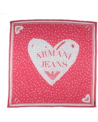 Armani Jeans Square Scarf - Pink