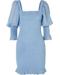 Ganni Short Dress - Blue