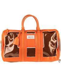 Maison Margiela Travel Duffel Bags - Orange