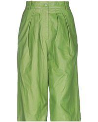 Rochas Pantaloni cropped - Verde